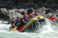 Rafting with family or friends